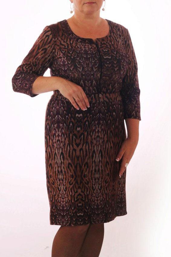 ПлатьеПлатья<br>Прекрасное женское платье с декоративной молнией на лифе. Модель выполнена из плотного трикотажа. Отличный выбор для повседневного гардероба. Платье с поясом.  Цвет: фиолетовый, бежевый, бордовый<br><br>По сезону: Осень,Весна<br>Размер : 46,48,50,52<br>Материал: Трикотаж<br>Количество в наличии: 8