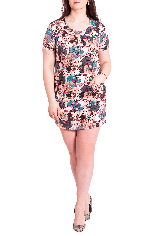 ПлатьеПлатья<br>Цветное платье с круглой горловиной и короткими рукавами. Модель выполнена из приятного материала. Отличный выбор для любого случая.У платья узкие рукава.В изделии использованы цвета: бежевый, коричневый и др.Рост девушки-фотомодели 180 см<br><br>Горловина: С- горловина<br>Рукав: Короткий рукав<br>Длина: До колена<br>Материал: Вискоза<br>Рисунок: В горошек,С принтом,Цветные<br>Сезон: Весна,Лето<br>Силуэт: Полуприталенные<br>Стиль: Летний стиль,Повседневный стиль<br>Элементы: С карманами<br>Размер : 46,48,50,52,54,56<br>Материал: Вискоза<br>Количество в наличии: 6