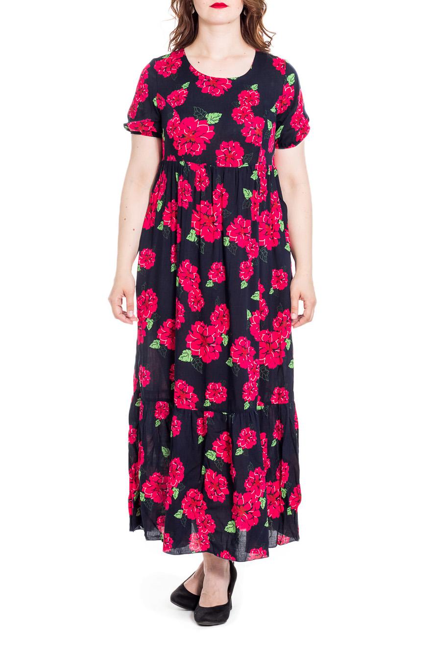 ПлатьеПлатья<br>Чудесное женское платье с короткими рукавами. А-силуэт. Побалуйте себя этой великолепной покупкой  Цвет: черный, розовый, зеленый  Рост девушки-фотомодели 180 см<br><br>Горловина: С- горловина<br>По длине: Макси<br>По материалу: Тканевые<br>По рисунку: Растительные мотивы,С принтом,Цветные,Цветочные<br>По силуэту: Полуприталенные,Свободные<br>По стилю: Повседневный стиль<br>По форме: Платье - трапеция<br>По элементам: С завышенной талией<br>Рукав: Короткий рукав<br>По сезону: Лето<br>Размер : 48,50,52<br>Материал: Плательная ткань<br>Количество в наличии: 3