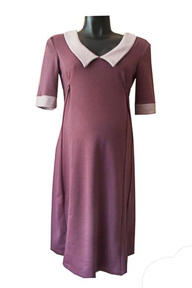 ПлатьеПлатья для будущих мам<br>Женское платье из приятного трикотажа.  За счет свободного кроя и эластичного материала изделие можно носить во время беременности<br><br>Воротник: Отложной<br>Горловина: V- горловина<br>По материалу: Вискоза,Трикотаж<br>По рисунку: Цветные<br>По сезону: Весна,Осень,Зима<br>По силуэту: Полуприталенные<br>По стилю: Классический стиль,Офисный стиль,Повседневный стиль<br>По длине: Ниже колена<br>По элементам: С манжетами<br>Рукав: До локтя<br>Размер : 46,48<br>Материал: Джерси<br>Количество в наличии: 3