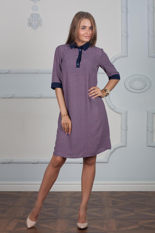 ПлатьеПлатья<br>Платье свободного покроя, не приталенное. А-силуэтное. С контрастной отделкой воротничка и манжет.  В изделии использованы цвета: розовый, синий  Ростовка изделия 170 см.  Длина изделия: 42-44 размер - 95 см., 46-48 размер - 98 см., 50-52 размер - 106 см., 54-56  размер - 110 см.<br><br>Воротник: Рубашечный<br>По длине: До колена<br>По материалу: Тканевые<br>По рисунку: С принтом,Цветные<br>По силуэту: Свободные<br>По стилю: Повседневный стиль<br>По форме: Платье - трапеция<br>По элементам: С манжетами<br>Рукав: До локтя<br>По сезону: Осень,Весна,Зима<br>Размер : 46,48,52,56<br>Материал: Креп<br>Количество в наличии: 4