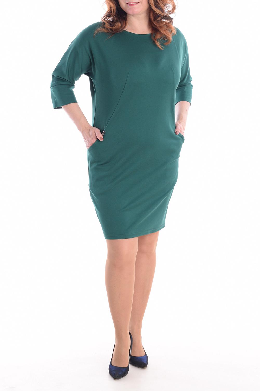 Фото - Платье платье длинное расклешенное однотонное с рукавами 3 4