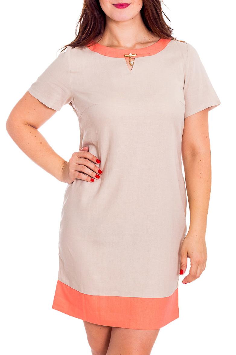ПлатьеПлатья<br>Милое платье полуприталенного силуэта с круглой горловиной и короткими рукавами. Модель выполнена из хлопкового материала. Отличный выбор для повседневного гардероба.  В изделии использованы цвета: бежевый, коралловый  Рост девушки-фотомодели 180 см<br><br>Горловина: С- горловина<br>По длине: До колена<br>По материалу: Тканевые,Хлопок<br>По рисунку: Цветные<br>По силуэту: Полуприталенные<br>По стилю: Повседневный стиль,Летний стиль<br>По форме: Платье - трапеция<br>По элементам: С декором<br>Рукав: Короткий рукав<br>По сезону: Весна,Лето<br>Размер : 48,52,54<br>Материал: Плательная ткань<br>Количество в наличии: 6