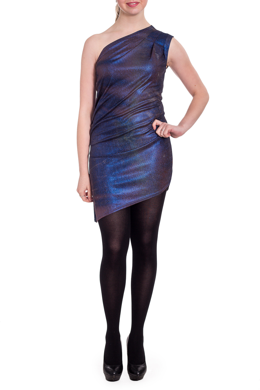 ПлатьеПлатья<br>Эффектное платье с открытым плечом обтягивающего силуэта. Модель выполнена из эластичного трикотажа. Отличный выбор для любого торжества.  В изделии использованы цвета: синий, розовый  Рост девушки-фотомодели 170 см.<br><br>По длине: До колена<br>По материалу: Трикотаж<br>По рисунку: Цветные<br>По сезону: Весна,Зима,Лето,Осень,Всесезон<br>По силуэту: Приталенные<br>По форме: Платье - футляр<br>По элементам: Со складками,С открытыми плечами<br>Рукав: Без рукавов<br>По стилю: Нарядный стиль<br>Размер : 48,50,52<br>Материал: Трикотаж<br>Количество в наличии: 3