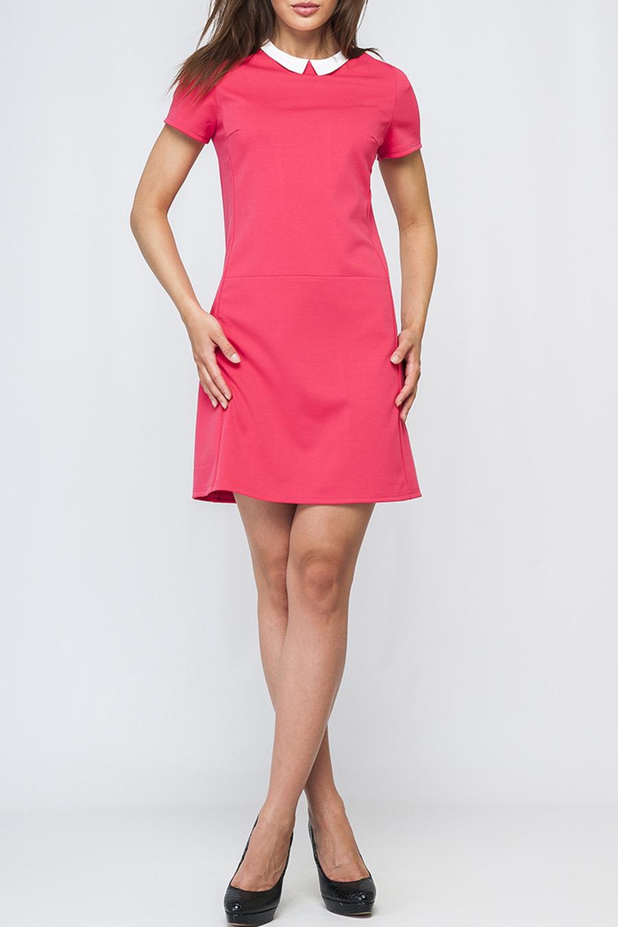 ПлатьеПлатья<br>Модное женское платье яркого цвета, с контрастным отложным воротничком, по спинке изделия застежка-пуговица, длина чуть выше колена.   Параметры изделия:  44 размер: обхват по линии груди - 97 см, обхват по линии бедер - 105 см, длина по спинке - 89,5 см, длина рукава - 45 см;  52 размер: обхват по линии груди - 113 см, обхват по линии бедер - 117 см, длина по спинке - 97 см, длина рукава - 48 см.  Цвет: коралловый  Рост девушки-фотомодели 170 см<br><br>Воротник: Отложной<br>По длине: До колена<br>По материалу: Трикотаж<br>По образу: Город,Свидание<br>По рисунку: Однотонные<br>По сезону: Лето,Осень,Весна<br>По силуэту: Полуприталенные<br>По стилю: Повседневный стиль<br>По форме: Платье - трапеция<br>Рукав: Короткий рукав<br>Размер : 48,50<br>Материал: Трикотаж<br>Количество в наличии: 3