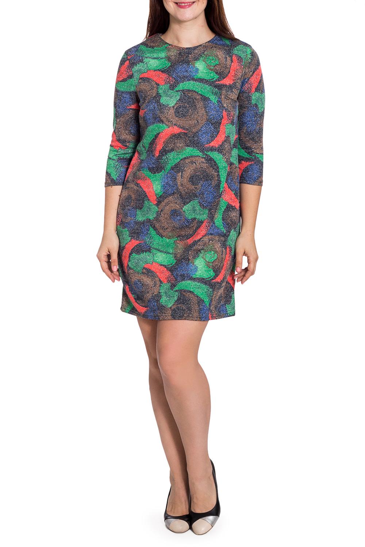 ПлатьеПлатья<br>Цветное платье футлярного типа с круглой горловиной и рукавами 3/4. Модель выполнена из мягкого трикотажа. Отлиный выбор для повседневного гардероба.  В изделии использованы цвета: зеленый, коричневый, синий и др.  Рост девушки-фотомодели 180 см.<br><br>Горловина: С- горловина<br>По длине: До колена<br>По материалу: Вискоза,Трикотаж<br>По рисунку: С принтом,Цветные<br>По силуэту: Полуприталенные<br>По стилю: Повседневный стиль<br>По форме: Платье - футляр<br>Рукав: Рукав три четверти<br>По сезону: Осень,Весна<br>Размер : 48,50,52,58<br>Материал: Трикотаж<br>Количество в наличии: 6