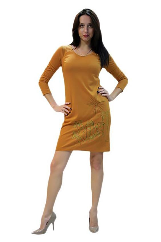 ПлатьеПлатья<br>Женское платье из мягкой вискозы с декоративным принтом по низу изделия.<br><br>Горловина: С- горловина<br>По материалу: Вискоза<br>По образу: Город,Свидание<br>По рисунку: Цветные,С принтом<br>По сезону: Осень,Весна<br>Рукав: Рукав три четверти<br>По форме: Платье - футляр<br>По стилю: Повседневный стиль<br>По длине: До колена<br>По силуэту: Приталенные<br>Размер : 42,44,50<br>Материал: Вискоза<br>Количество в наличии: 3