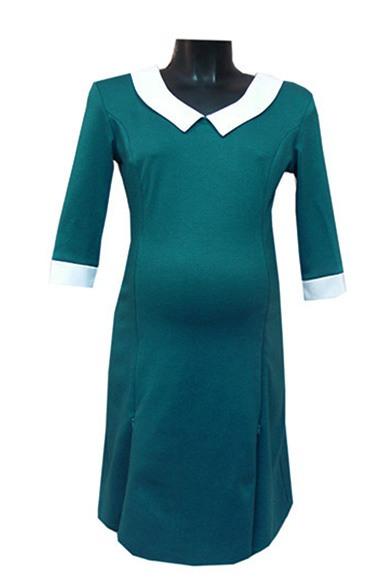 ПлатьеПлатья для будущих мам<br>Женское платье из приятного трикотажа.  За счет свободного кроя и эластичного материала изделие можно носить во время беременности<br><br>Воротник: Отложной<br>Горловина: V- горловина<br>По материалу: Вискоза,Трикотаж<br>По рисунку: Цветные<br>По сезону: Весна,Осень,Зима<br>По силуэту: Полуприталенные<br>По стилю: Классический стиль,Офисный стиль,Повседневный стиль,Винтаж<br>По длине: До колена<br>По элементам: С манжетами<br>Рукав: Рукав три четверти<br>Размер : 46,48<br>Материал: Джерси<br>Количество в наличии: 2