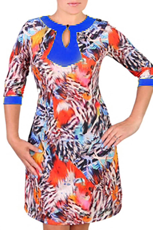 ПлатьеПлатья<br>Яркое женское платье из приятного легкого трикотажа с капелькой на переде изделия и рукавами 3/4. Цвет: синий, красный, черный, белый и др.<br><br>Горловина: С- горловина<br>По длине: До колена<br>По материалу: Трикотаж<br>По рисунку: Абстракция,С принтом,Цветные<br>По сезону: Весна,Осень<br>По силуэту: Полуприталенные<br>По стилю: Повседневный стиль<br>По элементам: С манжетами<br>Рукав: Рукав три четверти<br>По форме: Платье - трапеция<br>Размер : 44,46,48<br>Материал: Холодное масло<br>Количество в наличии: 3