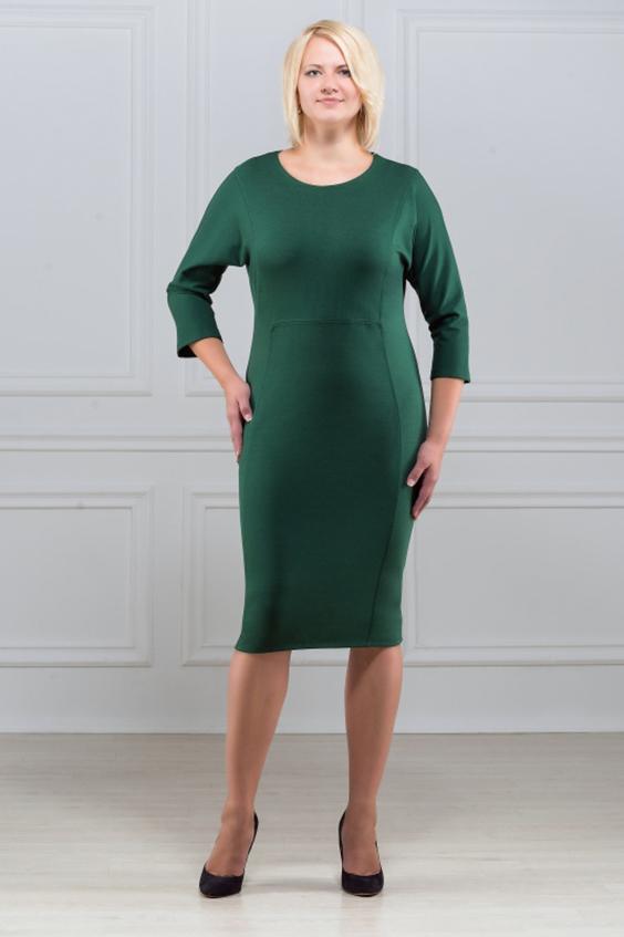 ПлатьеПлатья<br>Платье однотонное, фасона летучая мышь. Основным преимуществом платья является то, что оно украсит женщину с абсолютно любой фигурой. Модели платья с широким верхом в области плеч и узким по бедрам низом идут всем. Ткань характеризуется эластичностью, растяжимостью и мягкостью. Плотность ткани 280 гр/м2  Длина платья 100-105 см.  Цвет: зеленый  Рост девушки-фотомодели 173 см<br><br>По образу: Свидание,Город,Офис<br>По стилю: Офисный стиль,Повседневный стиль<br>По материалу: Вискоза,Трикотаж<br>По рисунку: Однотонные<br>По сезону: Весна,Осень<br>По силуэту: Полуприталенные<br>По форме: Платье - футляр<br>По длине: До колена<br>Рукав: Рукав три четверти<br>Горловина: С- горловина<br>Размер: 50,52,54,56,58,60<br>Материал: 78% вискоза 19% полиэстер 3% эластан<br>Количество в наличии: 2