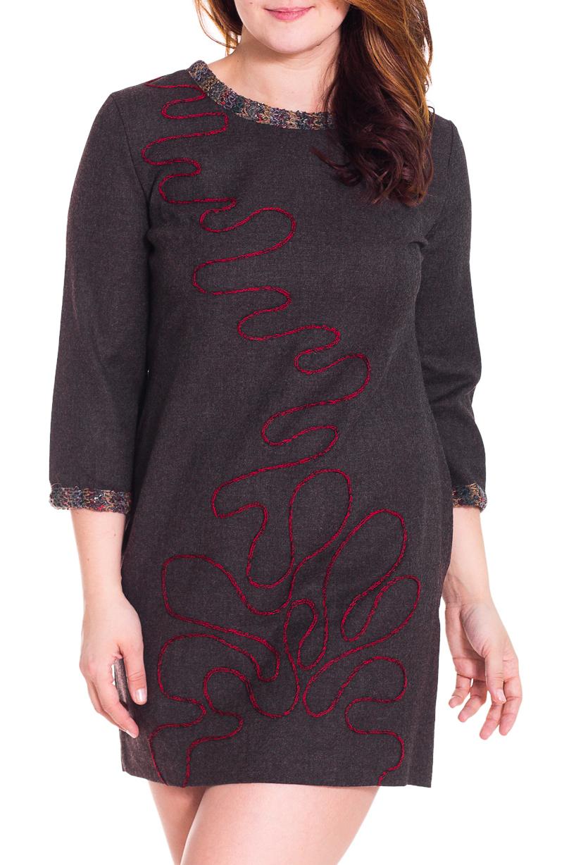 ПлатьеПлатья<br>Красивое платье свободного силуэта. Модель выполнена из шерсти. Отличный выбор для повседневного гардероба.  Цвет: коричневый, красный, серый  Рост девушки-фотомодели 180 см<br><br>Горловина: С- горловина<br>По длине: До колена<br>По материалу: Шерсть<br>По рисунку: Цветные<br>По сезону: Зима<br>По силуэту: Свободные<br>По стилю: Повседневный стиль<br>По форме: Платье - трапеция<br>По элементам: С декором,С карманами<br>Рукав: Рукав три четверти<br>Размер : 44,46,48,50,52<br>Материал: Шерсть<br>Количество в наличии: 8