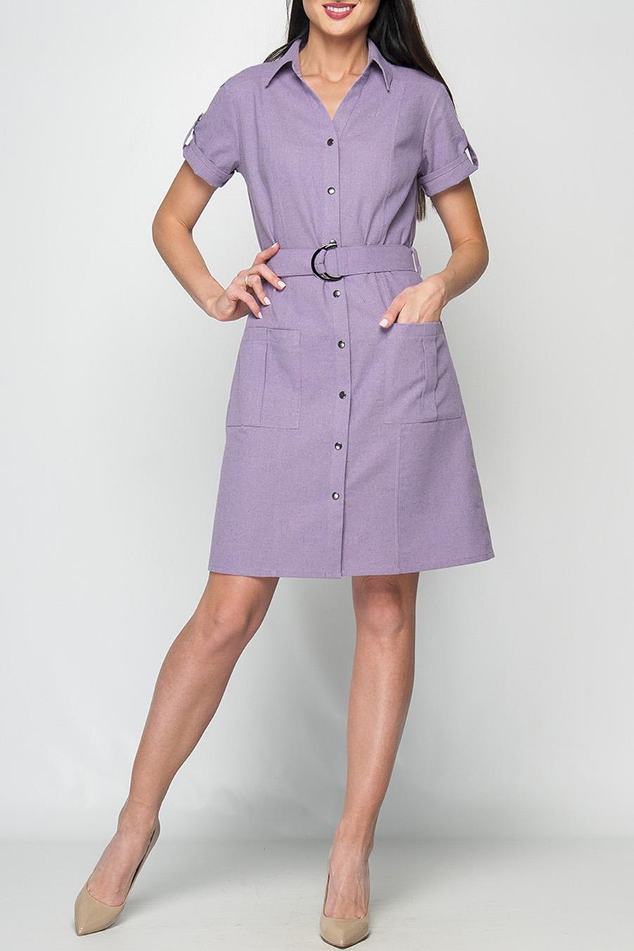 ПлатьеПлатья<br>Женское платье прямого силуэта, воротник оформлен в рубашечном стиле на стойке, накладные карманы, по центру изделия кнопки-пуговицы. Платье без пояса.  Параметры изделия:  44 размер: обхват груди - 100 см, обхват бедер - 104 см, длина рукава - 21 см, длина изделия - 95 см;  52 размер: обхват груди - 118 см, обхват бедер - 120 см, длина рукава - 22 см, длина изделия - 107 см.  Цвет: сиреневый  Рост девушки-фотомодели 175 см<br><br>Воротник: Рубашечный<br>По длине: До колена<br>По материалу: Лен<br>По рисунку: Однотонные<br>По стилю: Повседневный стиль,Сафари,Кэжуал,Летний стиль<br>По элементам: С карманами,С отделочной фурнитурой,С патами<br>Рукав: Короткий рукав<br>По сезону: Лето<br>По силуэту: Полуприталенные<br>По форме: Платье - трапеция<br>Размер : 42<br>Материал: Лен<br>Количество в наличии: 1