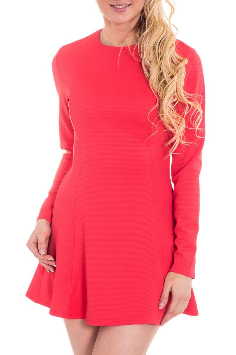 ПлатьеПлатья<br>Элегантное и женственное платье, которое подойдет любому типу фигуры, выполненное из приятного телу трикотажа.  Цвет: кораллово-красный.  Рост девушки-фотомодели 170 см<br><br>Горловина: С- горловина<br>По рисунку: Однотонные<br>По силуэту: Приталенные<br>По стилю: Повседневный стиль<br>По форме: Платье - трапеция<br>Рукав: Длинный рукав<br>По длине: Мини<br>По материалу: Трикотаж<br>По сезону: Осень,Весна,Зима<br>Размер : 46<br>Материал: Трикотаж<br>Количество в наличии: 1