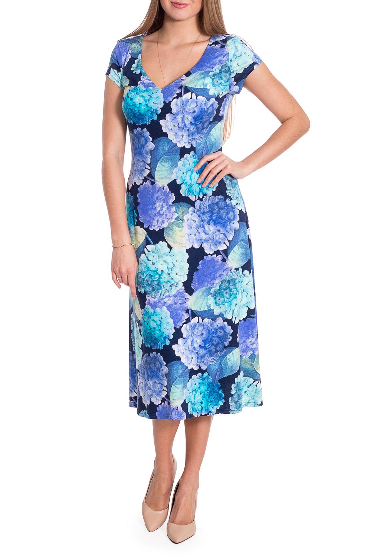 ПлатьеПлатья<br>Платье полуприталенного силуэта. Вырез горловины V-образный. Платье длиной миди с короткими рукавами. Ростовка изделия 164 см.  В изделии использованы цвета: голубой, синий и др.  Рост девушки-фотомодели 170 см  Параметры размеров: 42 размер - обхват груди 84 см., обхват талии 66 см., обхват бедер 90 см. 44 размер - обхват груди 88 см., обхват талии 70 см., обхват бедер 94 см. 46 размер - обхват груди 92 см., обхват талии 74 см., обхват бедер 98 см. 48 размер - обхват груди 96 см., обхват талии 78 см., обхват бедер 102 см. 50 размер - обхват груди 100 см., обхват талии 82 см., обхват бедер 106 см. 52 размер - обхват груди 104 см., обхват талии 86 см., обхват бедер 110 см. 54 размер - обхват груди 108 см., обхват талии 92 см., обхват бедер 116 см. 56 размер - обхват груди 112 см., обхват талии 98 см., обхват бедер 122 см. 58 размер - обхват груди 116 см., обхват талии 104 см., обхват бедер 128 см. 60 размер - обхват груди 120 см., обхват талии 110 см., обхват бедер 134 см. 62 размер - обхват груди 124 см., обхват талии 118 см., обхват бедер 140 см. 64 размер - обхват груди 128 см., обхват талии 126 см., обхват бедер 146 см. 66 размер - обхват груди 132 см., обхват талии 132 см., обхват бедер 152 см. 68 размер - обхват груди 138 см., обхват талии 140 см., обхват бедер 158 см.<br><br>Горловина: V- горловина<br>По длине: Миди,Ниже колена<br>По материалу: Вискоза<br>По рисунку: Растительные мотивы,С принтом,Цветные,Цветочные<br>По сезону: Лето,Осень,Весна<br>По силуэту: Полуприталенные<br>По стилю: Повседневный стиль<br>По форме: Платье - трапеция<br>Рукав: Короткий рукав<br>Размер : 44,46<br>Материал: Вискоза<br>Количество в наличии: 2