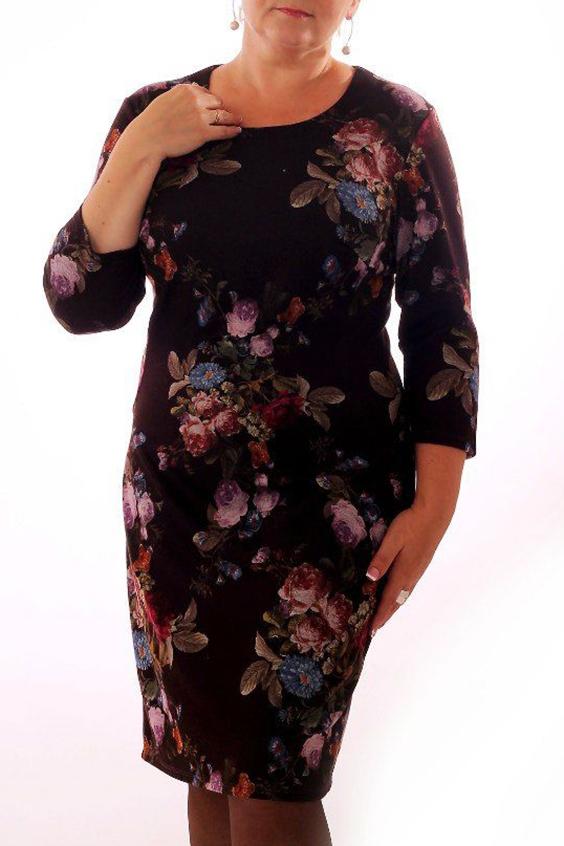 ПлатьеПлатья<br>Прелестное женское платье приталенного силуэта. Рукава 3/4. Цвет: фиолетово-розовый.<br><br>Горловина: С- горловина<br>По длине: Ниже колена<br>По материалу: Вискоза,Трикотаж<br>По рисунку: Растительные мотивы,С принтом,Цветные,Цветочные<br>По сезону: Весна,Осень,Зима<br>По силуэту: Приталенные<br>По стилю: Повседневный стиль<br>По форме: Платье - футляр<br>Рукав: Рукав три четверти<br>Размер : 46,48<br>Материал: Джерси<br>Количество в наличии: 3
