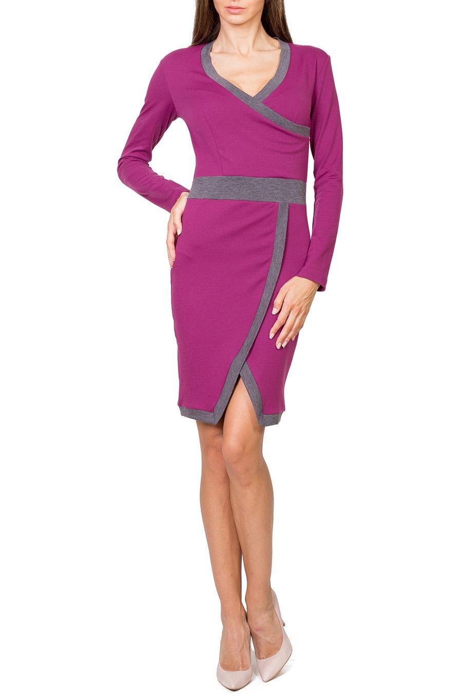 ПлатьеПлатья<br>Привлекательное платье с V-образной горловиной и длинными рукавами. Модель выполнена из плотного трикотажа с контрастным декором. Отличный выбор для повседневного гардероба.  Цвет: розовый, серый  Рост девушки-фотомодели 182 см.<br><br>Горловина: V- горловина,Запах<br>По длине: До колена<br>По материалу: Вискоза,Трикотаж<br>По рисунку: Цветные<br>По сезону: Весна,Осень,Зима<br>По силуэту: Приталенные<br>По стилю: Повседневный стиль<br>По форме: Платье - футляр<br>Рукав: Длинный рукав<br>По элементам: С фигурным низом<br>Размер : 42,48,50<br>Материал: Джерси<br>Количество в наличии: 3