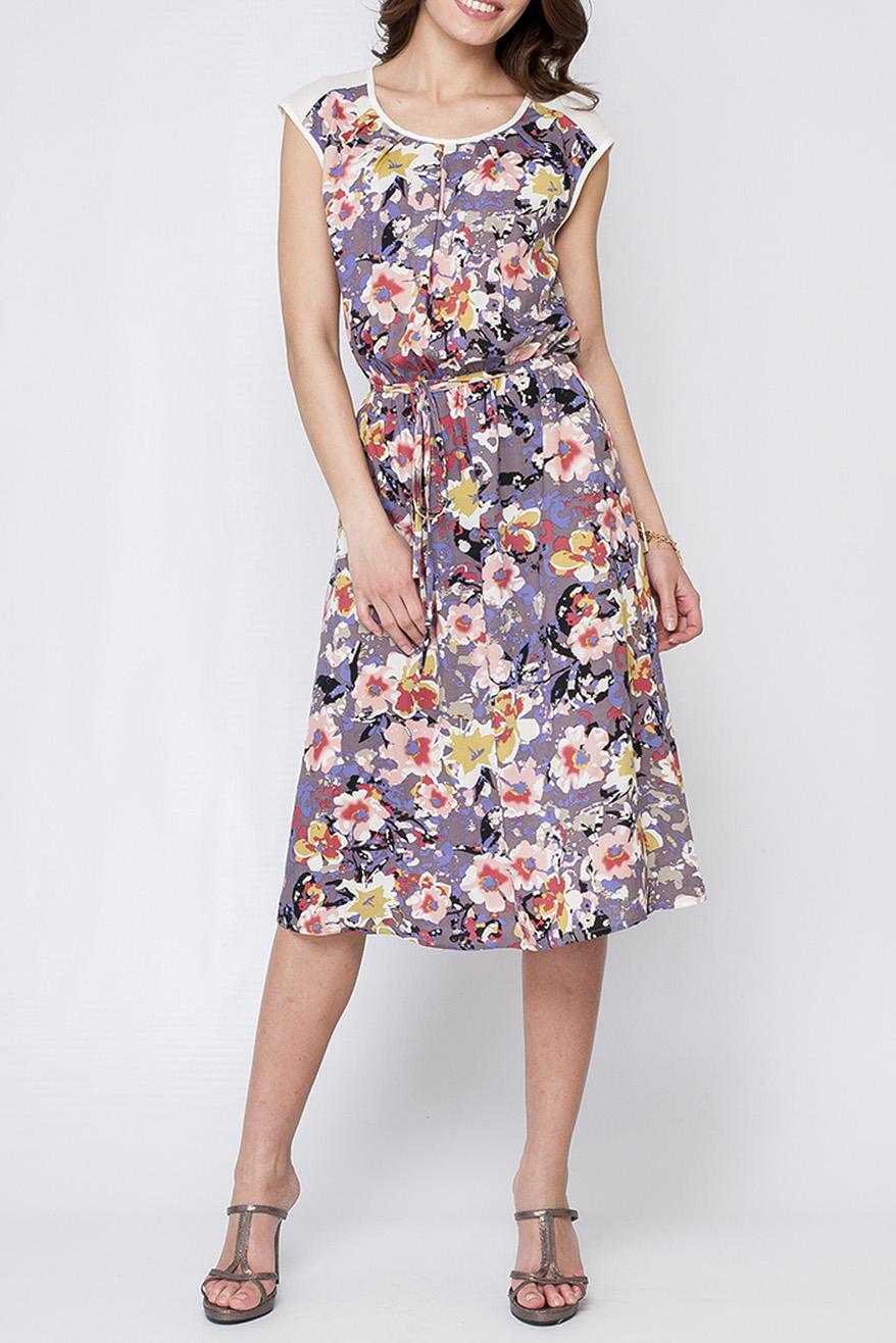 ПлатьеПлатья<br>Чудное летнее платье с цветочным принтом. Модель выполнена из хлопкового материала. Отличный выбор для повседневного гардероба. Платье без пояса.  Цвет: сиреневый, мультицвет  Рост девушки-фотомодели 170 см<br><br>Горловина: С- горловина<br>По длине: Ниже колена<br>По материалу: Хлопок<br>По рисунку: Растительные мотивы,С принтом,Цветные,Цветочные<br>По силуэту: Полуприталенные<br>По стилю: Повседневный стиль,Летний стиль<br>По форме: Платье - трапеция<br>Рукав: Без рукавов<br>По сезону: Лето<br>Размер : 44<br>Материал: Хлопок<br>Количество в наличии: 1