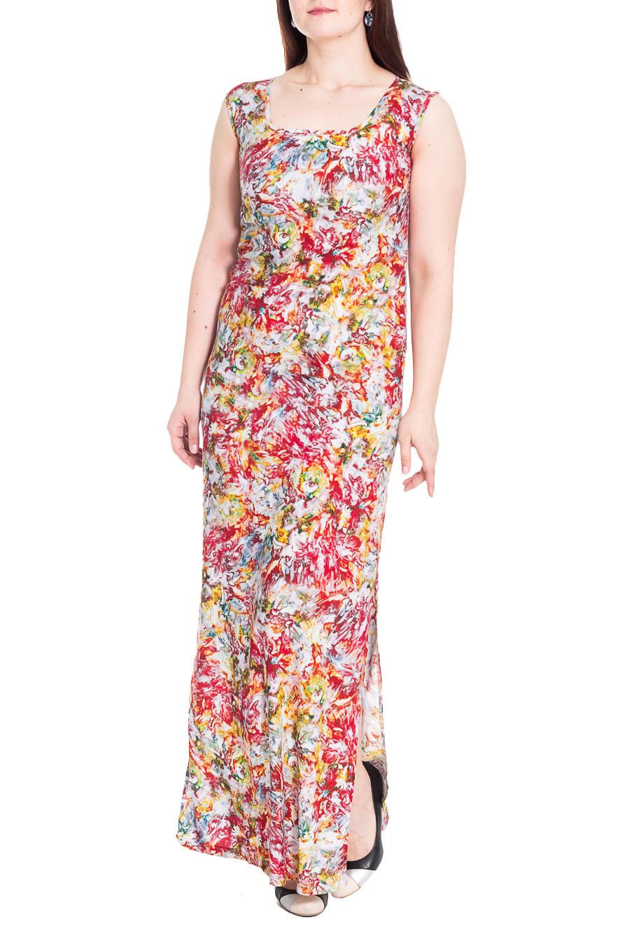 ПлатьеПлатья<br>Цветочное платье в пол. Модель выполнена из приятного материала. Отличный выбор для повседневного гардероба.  Цвет: красный, белый, желтый, зеленый  Рост девушки-фотомодели 180 см.<br><br>По длине: Макси<br>По материалу: Тканевые<br>По рисунку: Растительные мотивы,Цветные,Цветочные,С принтом<br>По сезону: Лето<br>По силуэту: Полуприталенные<br>По стилю: Повседневный стиль<br>По элементам: С разрезом<br>Разрез: Длинный<br>Рукав: Без рукавов<br>Горловина: С- горловина<br>Размер : 50,52<br>Материал: Плательная ткань<br>Количество в наличии: 3