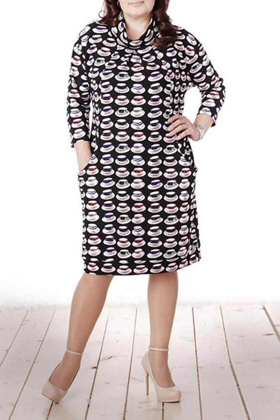 ПлатьеПлатья<br>Красивое женское платье со стоячим и рукавами 3/4. Модель выполнена из приятного трикотажа. Отличный выбор для повседневного гардероба.  Цвет: черный, белый, мультицвет  Длина изделия 97 см  Длина рукава 38 см   Рост девушки-фотомодели 165 см<br><br>Воротник: Стойка<br>По длине: Ниже колена<br>По материалу: Вискоза,Трикотаж<br>По рисунку: С принтом,Цветные<br>По сезону: Весна,Осень,Зима<br>По силуэту: Полуприталенные<br>По стилю: Повседневный стиль<br>По форме: Платье - футляр<br>По элементам: С карманами<br>Рукав: Рукав три четверти<br>Размер : 48,50,52,54<br>Материал: Трикотаж<br>Количество в наличии: 6