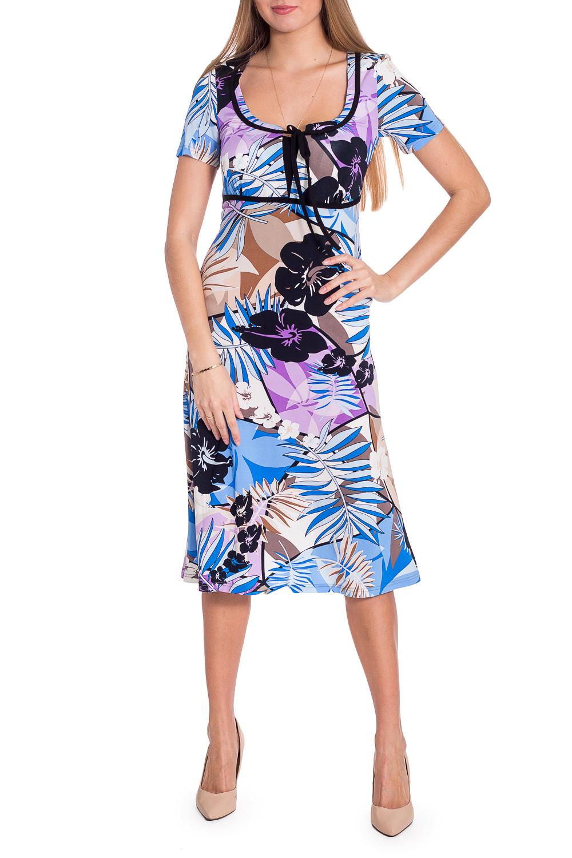 ПлатьеПлатья<br>Облегающее платье из тонкой вискозы. Подрез под грудью оформлен кантом, что делает силуэт более стройным. Ростовка изделия 164 см.  В изделии использованы цвета: голубой, белый и др.  Рост девушки-фотомодели 170 см  Параметры размеров: 42 размер - обхват груди 84 см., обхват талии 66 см., обхват бедер 90 см. 44 размер - обхват груди 88 см., обхват талии 70 см., обхват бедер 94 см. 46 размер - обхват груди 92 см., обхват талии 74 см., обхват бедер 98 см. 48 размер - обхват груди 96 см., обхват талии 78 см., обхват бедер 102 см. 50 размер - обхват груди 100 см., обхват талии 82 см., обхват бедер 106 см. 52 размер - обхват груди 104 см., обхват талии 86 см., обхват бедер 110 см. 54 размер - обхват груди 108 см., обхват талии 92 см., обхват бедер 116 см. 56 размер - обхват груди 112 см., обхват талии 98 см., обхват бедер 122 см. 58 размер - обхват груди 116 см., обхват талии 104 см., обхват бедер 128 см. 60 размер - обхват груди 120 см., обхват талии 110 см., обхват бедер 134 см. 62 размер - обхват груди 124 см., обхват талии 118 см., обхват бедер 140 см. 64 размер - обхват груди 128 см., обхват талии 126 см., обхват бедер 146 см. 66 размер - обхват груди 132 см., обхват талии 132 см., обхват бедер 152 см. 68 размер - обхват груди 138 см., обхват талии 140 см., обхват бедер 158 см.<br><br>Горловина: Фигурная горловина<br>По длине: Ниже колена<br>По материалу: Вискоза<br>По рисунку: Растительные мотивы,С принтом,Цветные,Цветочные<br>По сезону: Лето,Осень,Весна<br>По силуэту: Приталенные<br>По стилю: Повседневный стиль<br>По форме: Платье - трапеция<br>По элементам: С декором<br>Рукав: Короткий рукав<br>Размер : 44,50,54<br>Материал: Вискоза<br>Количество в наличии: 3