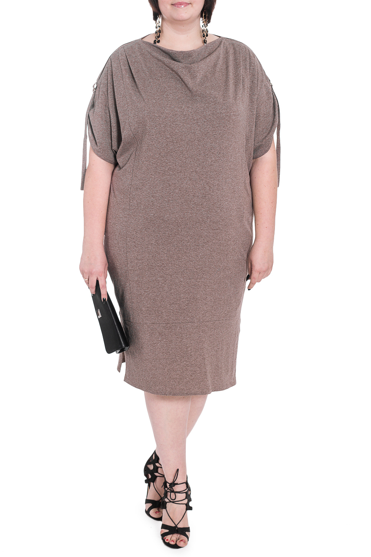 ПлатьеПлатья<br>Каким должно быть повседневное платье Таким, которое позволит выглядеть безупречно в любой ситуации.  Платье силуэта quot;баллонquot; с планкой по низу и разрезами по бокам. На передней части изделия рельефы и складки по плечам. На спинке средний шов. По плечевым швам погоны с патами. Горловина quot;качелькаquot;. Рукав рубашечный, короткий, со спущенной линией плеча и сборкой на пату.  Цвет: коричневый.  Длина рукава (от конечной плечевой точки) - 26 ± 1 см  Рост девушки-фотомодели 176 см  Длина изделия: 56 размер - 107 ± 2 см 58 размер - 107 ± 2 см 60 размер - 107 ± 2 см 62 размер - 107 ± 2 см 64 размер - 109 ± 2 см 66 размер - 109 ± 2 см 68 размер - 109 ± 2 см  При создании образа, который Вы видите на фотографии, также была использована стильная сумка арт. SMK9116. Для просмотра модели введите артикул в строке поиска.<br><br>Горловина: Качель<br>По длине: Ниже колена<br>По материалу: Трикотаж,Хлопок<br>По рисунку: Однотонные<br>По силуэту: Свободные<br>По стилю: Кэжуал,Повседневный стиль<br>По форме: Платье - баллон<br>По элементам: С патами,С разрезом,Со складками<br>Разрез: Короткий<br>Рукав: Короткий рукав<br>По сезону: Осень,Весна<br>Размер : 58,62,64,66<br>Материал: Трикотаж<br>Количество в наличии: 12