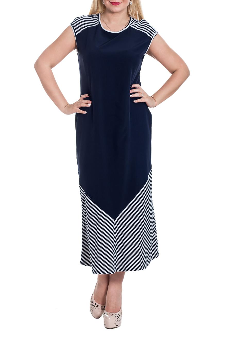 ПлатьеПлатья<br>Чудесное летнее платье из струящего материала, которое сделает Ваш образ более очаровательным. Платье полуприлегающего силуэта с кокетками и вставками по низу на передней и задней частях изделия. На спинке средний шов. Горловина и проймы окантованы.  Цвет: синий, белый.  Рост девушки-фотомодели 170 см  Длина изделия - 126 ± 2 см<br><br>Горловина: С- горловина<br>По длине: Макси<br>По материалу: Тканевые<br>По образу: Город,Свидание<br>По рисунку: В полоску,Цветные,С принтом<br>По силуэту: Полуприталенные<br>По стилю: Летний стиль,Повседневный стиль<br>Рукав: Короткий рукав<br>По сезону: Лето<br>Размер : 48,50<br>Материал: Плательно-блузочная ткань<br>Количество в наличии: 5