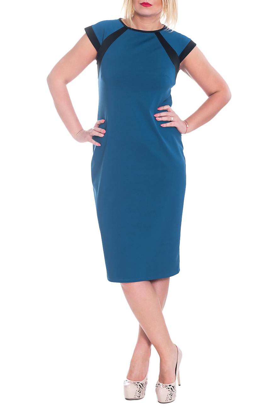 ПлатьеПлатья<br>Элегантное женское платье приталенного силуэта с кокетками и вставками на передней и задней частях изделия. На спинке средний шов и разрез. Рукав реглан - крылышко с притачной планкой.  Цвет: синий.  Рост девушки-фотомодели 170 см  Длина изделия - 105 ± 2 см<br><br>Горловина: С- горловина<br>По длине: Ниже колена<br>По материалу: Трикотаж,Хлопок<br>По рисунку: Однотонные<br>По сезону: Лето,Осень,Весна<br>По силуэту: Полуприталенные,Приталенные<br>По стилю: Классический стиль,Офисный стиль,Повседневный стиль<br>По форме: Платье - карандаш,Платье - футляр<br>По элементам: С декором,С разрезом<br>Разрез: Короткий<br>Рукав: Короткий рукав<br>Размер : 46,48<br>Материал: Джерси<br>Количество в наличии: 5