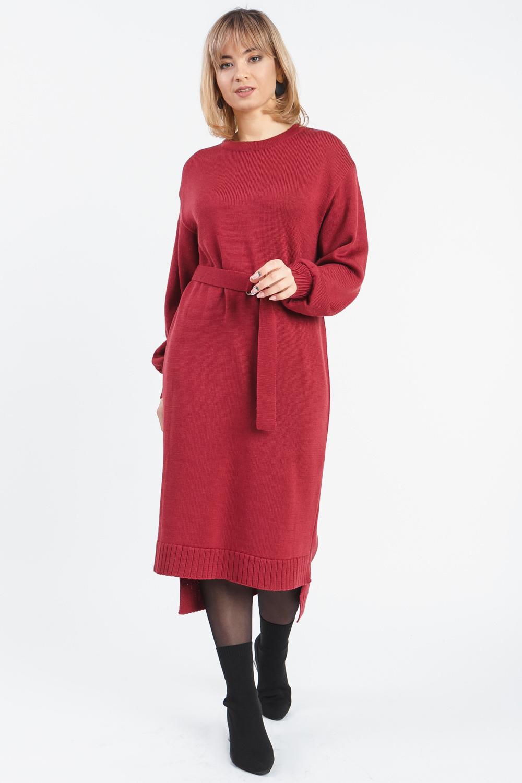 Платье с фигурным низом