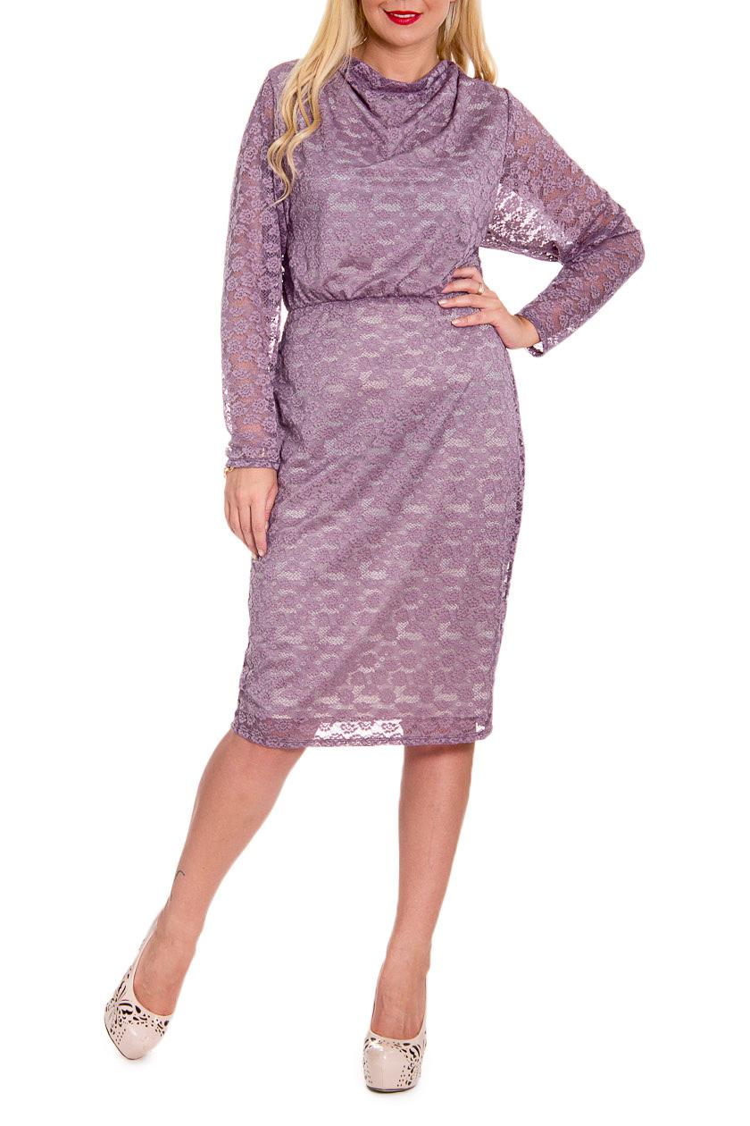ПлатьеПлатья<br>Повседневно-нарядное платье прекрасно подойдет как для праздника, так и для романтичной встречи. В наших платьях Вы будете выглядеть очаровательно на протяжении всего дня.  Чудесное, нарядное женское платье свободного кроя на подкладе. Горловина качель. Рез и резинка по талии.    Цвет: сиреневый.  Рост девушки-фотомодели 170 см<br><br>Горловина: Качель<br>По длине: Ниже колена<br>По материалу: Гипюр,Трикотаж<br>По рисунку: Однотонные<br>По сезону: Весна,Зима,Лето,Осень,Всесезон<br>По силуэту: Свободные<br>По стилю: Нарядный стиль,Повседневный стиль,Романтический стиль<br>По элементам: С декором,С подкладом,Со складками<br>Рукав: Длинный рукав<br>Размер : 50,52,56<br>Материал: Гипюр<br>Количество в наличии: 8