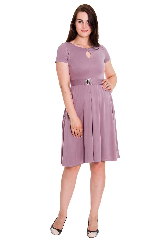 ПлатьеПлатья<br>Классическое женское платье приталенного силуэта, отрезное по линии талии, со съемным поясом. Юбка расширена книзу с широкой, застроченной встречной складкой по переду. На передней части лифа средний шов и капелька. На спинке средний шов. Горловина обработана обтачкой. Рукав втачной, короткий. Цвет: розовый.  Длина рукава - 18 ± 1 см  Рост девушки-фотомодели 180 см  Длина изделия: 42 размер - 98 ± 2 см 44 размер - 98 ± 2 см 46 размер - 98 ± 2 см 48 размер - 98 ± 2 см 50 размер - 98 ± 2 см 52 размер - 100 ± 2 см 54 размер - 100 ± 2 см 56 размер - 100 ± 2 см<br><br>По образу: Офис,Свидание,Город<br>По стилю: Кэжуал,Офисный стиль,Повседневный стиль,Классический стиль<br>По материалу: Вискоза,Трикотаж<br>По рисунку: Однотонные<br>По сезону: Осень,Весна,Лето<br>По силуэту: Полуприталенные,Приталенные<br>По элементам: С завышенной талией,С поясом,Со складками,С декором<br>По форме: Беби - долл<br>По длине: До колена<br>Рукав: Короткий рукав<br>Горловина: С- горловина<br>Размер: 50,52,54,42,44,46,48<br>Материал: 100% вискоза<br>Количество в наличии: 2