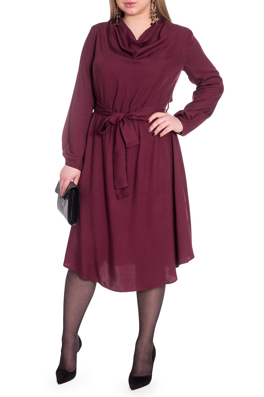 ПлатьеПлатья<br>Элегантное и женственное платье, которое подойдет любому типу фигуры, выполненное из приятного телу материала.Платье приталенного силуэта, отрезное по линии талии с резинкой и поясом. Фигурный низ. На спинке средний шов. Горловина качелька. Рукав втачной, длинный, со встречной складкой по центру. Низ рукава окантован.Цвет: бордовый.Длина рукава - 60 ± 1 смРост девушки-фотомодели 170 смДлина изделия - 110 ± 2 смПри создании образа, который Вы видите на фотографии, также была использована стильная сумка арт. SMK10516. Для просмотра модели введите артикул в строке поиска.<br><br>Горловина: Качель<br>Рукав: Длинный рукав<br>Длина: Ниже колена<br>Материал: Тканевые<br>Рисунок: Однотонные<br>Сезон: Весна,Осень<br>Силуэт: Полуприталенные<br>Стиль: Классический стиль,Повседневный стиль<br>Форма: Платье - трапеция<br>Элементы: С поясом,С фигурным низом,Со складками<br>Размер : 48,50,52,54<br>Материал: Плательная ткань<br>Количество в наличии: 7