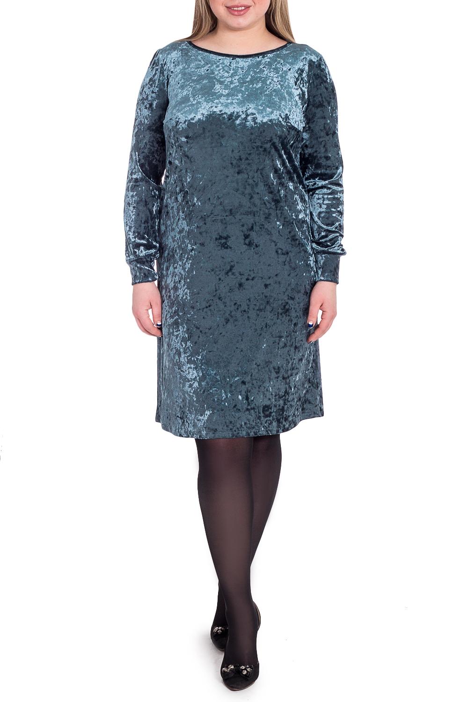 ПлатьеПлатья<br>Эта модель выручит в любой ситуации Платье силуэта трапеция. На спинке средний шов. Горловина окантована. Рукав втачной, длинный, со сборкой по окату и низу, притачной манжетой и чуть зауженной линией плеча.  Цвет: серый.  Длина рукава (от конечной плечевой точки) - 60 ± 1 см  Рост девушки-фотомодели 170 см  Длина изделия: 46 размер - 97 ± 2 см 48 размер - 97 ± 2 см 50 размер - 97 ± 2 см 52 размер - 97 ± 2 см 54 размер - 100 ± 2 см 56 размер - 100 ± 2 см 58 размер - 100 ± 2 см<br><br>Горловина: С- горловина<br>По длине: До колена<br>По материалу: Бархат<br>По образу: Город,Свидание<br>По рисунку: Однотонные<br>По сезону: Осень,Зима<br>По силуэту: Свободные<br>По стилю: Нарядный стиль,Повседневный стиль<br>По форме: Платье - трапеция<br>По элементам: С манжетами<br>Рукав: Длинный рукав<br>Размер : 52,58<br>Материал: Бархат<br>Количество в наличии: 4
