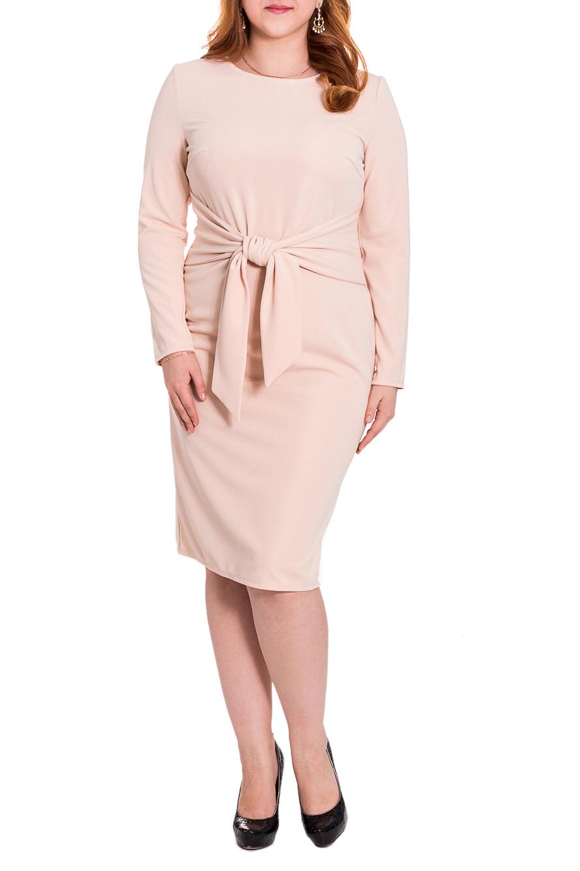 ПлатьеПлатья<br>Утонченное женственное платье приталенного силуэта. На передней части изделия нагрудные вытачки и пояс втаченный в боковые швы. На спинке средний шов и шлица. Рукав втачной, длинный. Цвет: бежевый.  Длина рукава - 60 ± 1 см  Рост девушки-фотомодели 169 см  Длина изделия: 44 размер - 100 ± 2 см 46 размер - 100 ± 2 см 48 размер - 100 ± 2 см 50 размер - 100 ± 2 см 52 размер - 103 ± 2 см 54 размер - 103 ± 2 см 56 размер - 103 ± 2 см<br><br>Горловина: С- горловина<br>По длине: Ниже колена<br>По материалу: Трикотаж<br>По образу: Город,Офис,Свидание<br>По рисунку: Однотонные<br>По сезону: Весна,Осень<br>По силуэту: Приталенные<br>По стилю: Классический стиль,Кэжуал,Офисный стиль,Повседневный стиль<br>По форме: Платье - карандаш,Платье - футляр<br>По элементам: С декором,С завязками,С поясом,С разрезом,Со складками<br>Разрез: Шлица<br>Рукав: Длинный рукав<br>Размер : 50<br>Материал: Трикотаж<br>Количество в наличии: 1