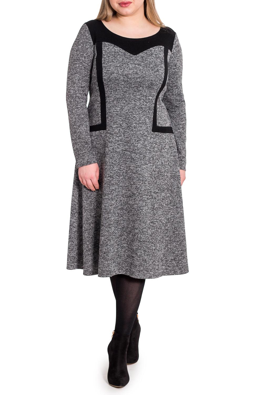 ПлатьеПлатья<br>Успех женщины в карьере во многом зависит от одежды, которую она носит. Поэтому, если вы хотите стать успешной, советуем приобрести это эксклюзивное платье.  Платье полуприлегающего силуэта, расширенной книзу. На передней части изделия кокетка и вставки из контрастной ткани. На спинке средний шов. Горловина круглая. Рукав втачной, длинный.  Цвет: серый с черными вставками.  Длина рукава (от конечной плечевой точки) - 60 ± 1 см  Рост девушки-фотомодели 170 см  Длина изделия - 110 ± 2 см<br><br>Горловина: С- горловина<br>По длине: Ниже колена<br>По материалу: Трикотаж<br>По рисунку: Однотонные<br>По сезону: Осень,Зима<br>По силуэту: Полуприталенные<br>По стилю: Классический стиль,Кэжуал,Офисный стиль,Повседневный стиль<br>По форме: Платье - трапеция<br>По элементам: С декором<br>Рукав: Длинный рукав<br>Размер : 48,50<br>Материал: Трикотаж<br>Количество в наличии: 6