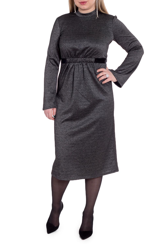 ПлатьеПлатья<br>Успех женщины в карьере во многом зависит от одежды, которую она носит. Поэтому, если вы хотите стать успешной, советуем приобрести это эксклюзивное платье.  Платье. На передней части изделия втачной пояс под грудью с резинкой и поясом, завязывающийся сзади. На спинке средний шов. Воротник стойка. Рукав втачной, длинный, расширен к низу.  Цвет: серый.  Длина рукава (от конечной плечевой точки) - 62 ± 1 см  Рост девушки-фотомодели 170 см  Длина изделия - 114 ± 2 см<br><br>Воротник: Стойка<br>По длине: Миди,Ниже колена<br>По материалу: Трикотаж<br>По рисунку: Однотонные<br>По сезону: Осень,Зима<br>По силуэту: Приталенные<br>По стилю: Классический стиль,Офисный стиль,Повседневный стиль<br>По форме: Платье - годе<br>По элементам: С воротником,С декором,С завышенной талией,С поясом,Со складками<br>Рукав: Длинный рукав<br>Размер : 48,50,52,54,56,58<br>Материал: Трикотаж<br>Количество в наличии: 22
