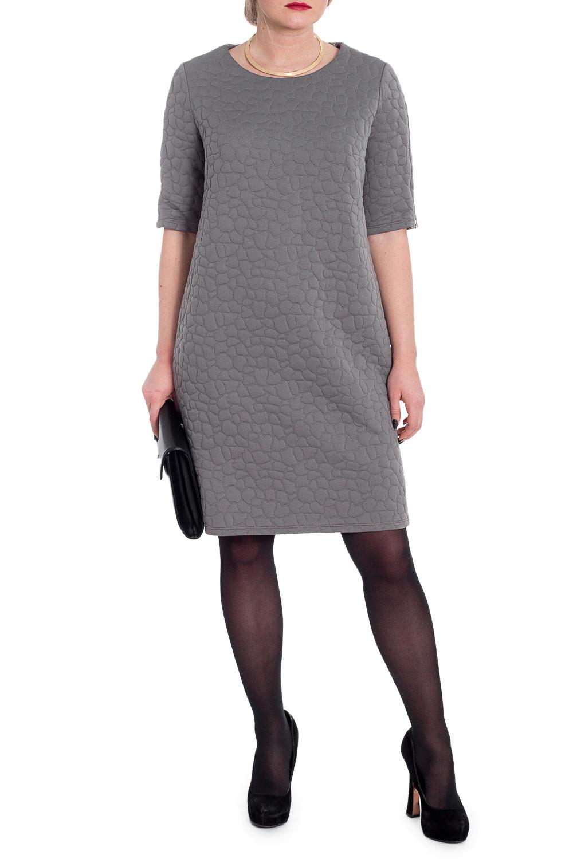 ПлатьеПлатья<br>Стильное трендовое платье раскрывает активную позицию своей владелицы.  Платье прямого силуэта. На спинке средний шов. Горловина обработана обтачкой. Рукав втачной, до локтя, с молнией по центру.  Цвет: серый.  Длина рукава (от конечной плечевой точки) - 33 ± 1 см  Рост девушки-фотомодели 170 см  Длина изделия: 46 размер - 93 ± 2 см 48 размер - 93 ± 2 см 50 размер - 93 ± 2 см 52 размер - 96 ± 2 см 54 размер - 96 ± 2 см 56 размер - 96 ± 2 см 58 размер - 96 ± 2 см<br><br>Горловина: С- горловина<br>По длине: До колена<br>По рисунку: Однотонные,Фактурный рисунок<br>По силуэту: Прямые<br>По стилю: Кэжуал,Офисный стиль,Повседневный стиль<br>По форме: Платье - футляр<br>По элементам: С декором,С отделочной фурнитурой<br>Рукав: До локтя<br>По сезону: Осень,Весна<br>По материалу: Трикотаж<br>Размер : 48,50,52,56<br>Материал: Трикотаж<br>Количество в наличии: 8