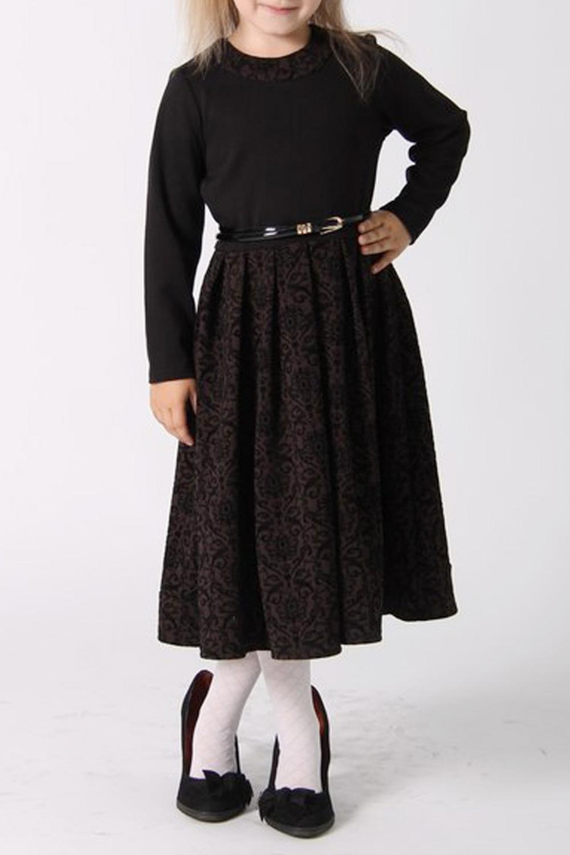 ПлатьеПлатья<br>Нарядное и элегантное платье для девочки. Модель выполнена из фактурного жаккарда.  Платье без пояса.  В изделии использованы цвета: черный, коричневый  Размер 74 соответствует росту 70-73 см Размер 80 соответствует росту 74-80 см Размер 86 соответствует росту 81-86 см Размер 92 соответствует росту 87-92 см Размер 98 соответствует росту 93-98 см Размер 104 соответствует росту 98-104 см Размер 110 соответствует росту 105-110 см Размер 116 соответствует росту 111-116 см Размер 122 соответствует росту 117-122 см Размер 128 соответствует росту 123-128 см Размер 134 соответствует росту 129-134 см Размер 140 соответствует росту 135-140 см<br><br>Горловина: С- горловина<br>По возрасту: Ясельные ( от 1 до 3 лет),Дошкольные ( от 3 до 7 лет)<br>По длине: Макси<br>По образу: Выпускной,Торжество,Повседневные<br>По рисунку: С принтом (печатью),Цветные<br>По сезону: Зима,Осень,Весна<br>По силуэту: Приталенные<br>По стилю: Нарядные,Повседневные<br>По форме: Трапеция<br>Рукав: Длинный рукав<br>Размер : 104,116,122<br>Материал: Жаккард<br>Количество в наличии: 3
