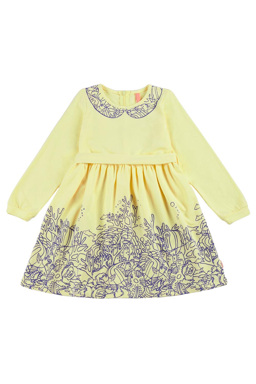 ПлатьеПлатья<br>Платье с длинными рукавами подойдет любой девочке и станет одной из самых любимых вещей. Оно украшено принтом. Подходит для ежедневного использования. Платье без пояса.  В изделии использованы цвета: желтый и др.  Размер 74 соответствует росту 70-73 см Размер 80 соответствует росту 74-80 см Размер 86 соответствует росту 81-86 см Размер 92 соответствует росту 87-92 см Размер 98 соответствует росту 93-98 см Размер 104 соответствует росту 98-104 см Размер 110 соответствует росту 105-110 см Размер 116 соответствует росту 111-116 см Размер 122 соответствует росту 117-122 см Размер 128 соответствует росту 123-128 см Размер 134 соответствует росту 129-134 см Размер 140 соответствует росту 135-140 см<br><br>Горловина: С- горловина<br>По возрасту: Дошкольные ( от 3 до 7 лет),Школьные ( от 7 до 13 лет),Ясельные ( от 1 до 3 лет)<br>По длине: Миди<br>По материалу: Трикотажные,Хлопковые<br>По образу: Повседневные<br>По рисунку: С принтом (печатью),Цветные<br>По сезону: Зима,Осень,Весна<br>По силуэту: Полуприталенные<br>По стилю: Повседневные<br>По форме: Трапеция<br>Рукав: Длинный рукав,С манжетой<br>Размер : 110,116,122,128,80,86,92,98<br>Материал: Трикотаж<br>Количество в наличии: 8