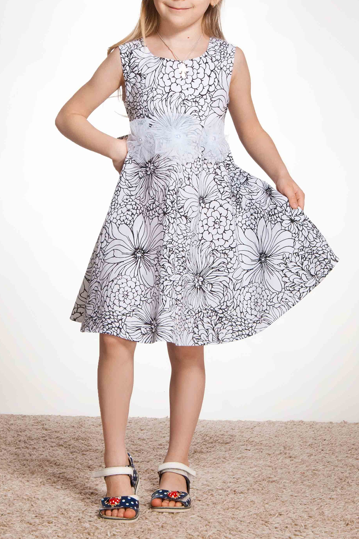 ПлатьеПлатья<br>Наше классическое платье с юбкой, выкроенной по солнцу. Платье из натурального хлопка с подкладом по лифу из хлопка. Украшение в виде 3-х цветков ручной работы по линии талии с украшение в центре в виде полубусин. Необыкновенно пышная модель.   В изделии использованы цвета: белый, черный  Размер 74 соответствует росту 70-73 см Размер 80 соответствует росту 74-80 см Размер 86 соответствует росту 81-86 см Размер 92 соответствует росту 87-92 см Размер 98 соответствует росту 93-98 см Размер 104 соответствует росту 98-104 см Размер 110 соответствует росту 105-110 см Размер 116 соответствует росту 111-116 см Размер 122 соответствует росту 117-122 см Размер 128 соответствует росту 123-128 см Размер 134 соответствует росту 129-134 см Размер 140 соответствует росту 135-140 см Размер 146 соответствует росту 141-146 см Размер 152 соответствует росту 147-152 см Размер 158 соответствует росту 153-158 см Размер 164 соответствует росту 159-164 см Размер 170 соответствует росту 165-170 см<br><br>Горловина: С- горловина<br>По возрасту: Ясельные ( от 1 до 3 лет),Дошкольные ( от 3 до 7 лет),Школьные ( от 7 до 13 лет)<br>По длине: Миди<br>По материалу: Хлопковые<br>По образу: Повседневные<br>По рисунку: Растительные мотивы,С принтом (печатью),Цветные,Цветочные<br>По силуэту: Приталенные<br>По стилю: Летние,Повседневные<br>По форме: Трапеция<br>Рукав: Короткий рукав<br>По сезону: Лето<br>Размер : 104,116,122,134,140<br>Материал: Хлопок<br>Количество в наличии: 6