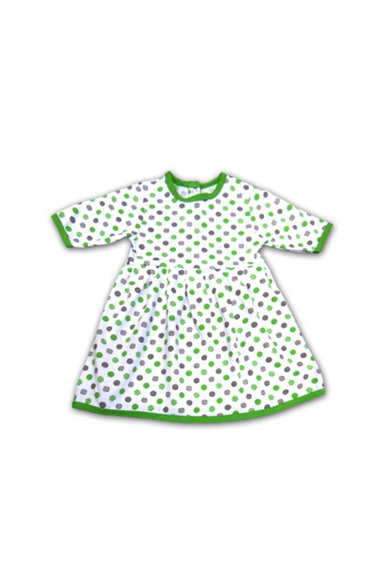 ПлатьеПлатья<br>Трикотажное платье для девочки.  В изделии использованы цвета: белый, зеленый и др.   Размер соответствует росту ребенка<br><br>Горловина: С- горловина<br>По возрасту: Ясельные ( от 1 до 3 лет)<br>По длине: Миди<br>По материалу: Трикотажные<br>По образу: Повседневные<br>По рисунку: В горошек,С принтом (печатью),Цветные<br>По силуэту: Полуприталенные<br>По стилю: Повседневные<br>По форме: Трапеция<br>Рукав: Длинный рукав<br>По сезону: Осень,Весна<br>Размер : 62,68,74<br>Материал: Трикотаж<br>Количество в наличии: 3