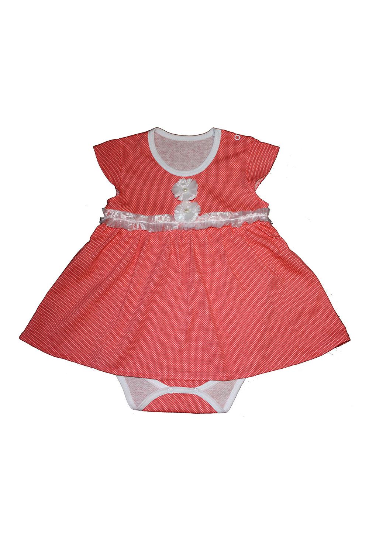 Боди-платьеКофточки<br>Хлопковое боди для новорожденного  Цвет: красный  Размер соответствует росту ребенка<br><br>По сезону: Всесезон<br>Размер : 68<br>Материал: Хлопок<br>Количество в наличии: 1