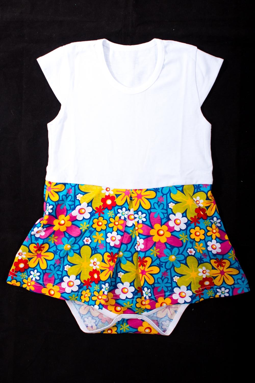 Платье-бодиКофточки<br>Хлопковое боди для новорожденного  В изделии использованы цвета: белый, голубой и др.  Размер соответствует росту ребенка<br><br>По сезону: Всесезон<br>Размер : 74,80<br>Материал: Хлопок<br>Количество в наличии: 3