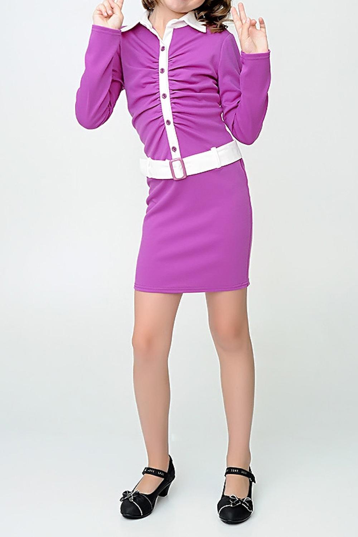 ПлатьеПлатья<br>Красивое платье с длинными рукавами для маленькой леди.  Платье без пояса.  Размер 140 соответствует росту 135-140 см Размер 146 соответствует росту 141-146 см Размер 152 соответствует росту 147-152 см Размер 158 соответствует росту 153-158 см  Цвет: фиолетовый, белый<br><br>Воротник: Рубашечный<br>По возрасту: Школьные ( от 7 до 13 лет)<br>По длине: Миди<br>По материалу: Трикотажные<br>По образу: Повседневные,Торжество<br>По рисунку: Цветные<br>По сезону: Весна,Зима,Лето,Осень,Всесезон<br>По силуэту: Полуприталенные<br>По стилю: Нарядные<br>По элементам: С декором<br>Рукав: Длинный рукав<br>Размер : 146<br>Материал: Трикотаж<br>Количество в наличии: 1