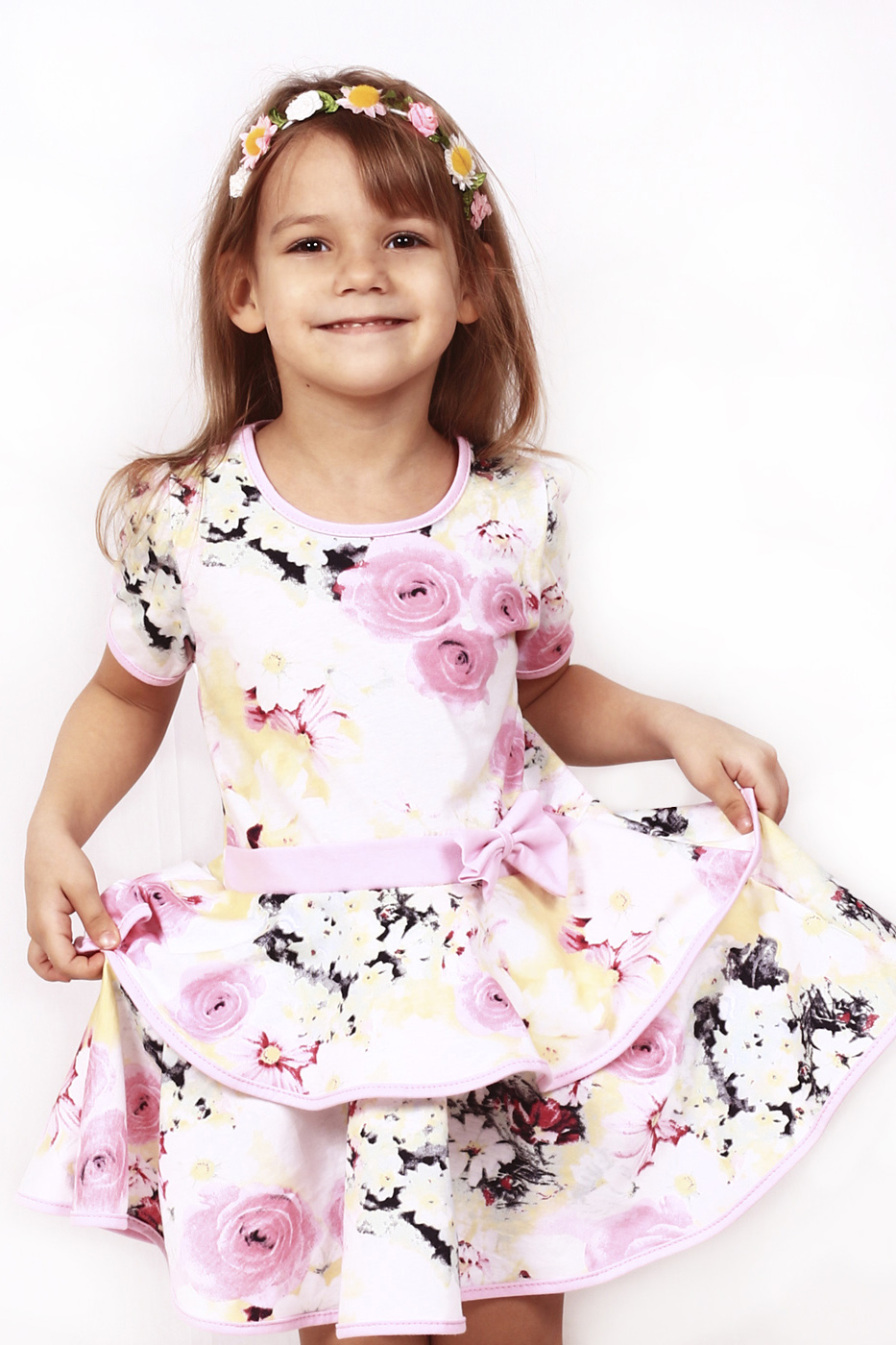 Платье платье для девочки batik цвет розовый ds0106 4 размер 98
