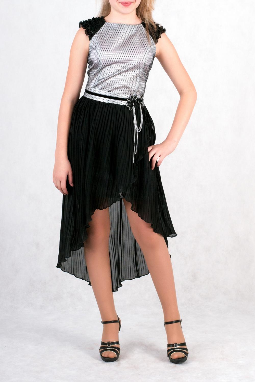 ПлатьеПлатья<br>Нарядное платье со съемным щлейфом. Ремень в комплект не входит.  Размер 140 соответствует росту 135-140 см Размер 146 соответствует росту 141-146 см<br><br>Горловина: С- горловина<br>По длине: Миди<br>По материалу: Атласные,Гипюровые,Тканевые<br>По образу: Торжество<br>По рисунку: Цветные<br>По сезону: Весна,Всесезон,Зима,Лето,Осень<br>По силуэту: Полуприталенные<br>По стилю: Нарядные<br>По элементам: С баской,С декором,С фигурным низом,Со шлейфом<br>Рукав: Короткий рукав<br>По возрасту: Школьные ( от 7 до 13 лет)<br>Размер : 134,140,146,152,158<br>Материал: Гипюр + Атлас<br>Количество в наличии: 5