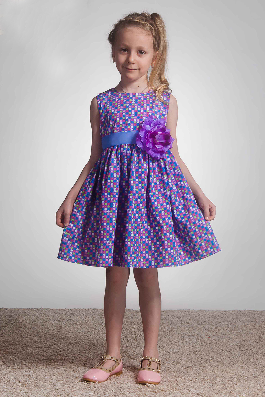 ПлатьеПлатья<br>Платье из натурального принтованного хлопка категории люкс. Классическое платье с лифом на обтачке без подклады. Пояс из репсовой ленты с украшением в виде цветка с жемчужиной в центре.  В изделии использованы цвета: сиреневый и др.  Размер 74 соответствует росту 70-73 см Размер 80 соответствует росту 74-80 см Размер 86 соответствует росту 81-86 см Размер 92 соответствует росту 87-92 см Размер 98 соответствует росту 93-98 см Размер 104 соответствует росту 98-104 см Размер 110 соответствует росту 105-110 см Размер 116 соответствует росту 111-116 см Размер 122 соответствует росту 117-122 см Размер 128 соответствует росту 123-128 см Размер 134 соответствует росту 129-134 см Размер 140 соответствует росту 135-140 см Размер 146 соответствует росту 141-146 см Размер 152 соответствует росту 147-152 см Размер 158 соответствует росту 153-158 см Размер 164 соответствует росту 159-164 см Размер 170 соответствует росту 165-170 см<br><br>Бретели: Широкие бретели<br>Горловина: С- горловина<br>По возрасту: Ясельные ( от 1 до 3 лет),Дошкольные ( от 3 до 7 лет),Школьные ( от 7 до 13 лет)<br>По длине: Миди<br>По материалу: Хлопковые<br>По образу: Повседневные<br>По рисунку: С принтом (печатью),Цветные<br>По сезону: Весна,Зима,Лето,Осень,Всесезон<br>По силуэту: Приталенные<br>По стилю: Нарядные,Повседневные<br>По форме: С завышенной талией,Трапеция<br>По элементам: Без рукавов,С декором<br>Размер : 104,116,122,134,98<br>Материал: Хлопок<br>Количество в наличии: 5