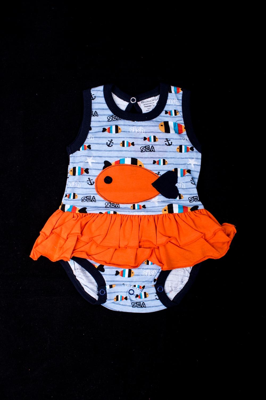 Платье-бодиКофточки<br>Хлопковое боди для новорожденного  В изделии использованы цвета: голубой, оранжевый и др.  Размер соответствует росту ребенка<br><br>По сезону: Всесезон<br>Размер : 62<br>Материал: Трикотаж<br>Количество в наличии: 1