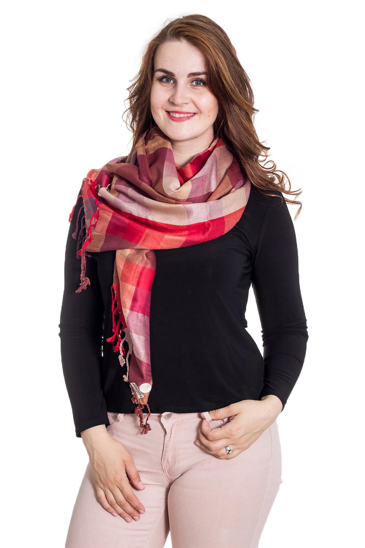 ПалантинПалантины<br>Палантин является незаменимым аксессуаром в гардеробе. Он способен защитить от холода или просто внести в образ законченность и некую изюминку.  Размер: 70*200 см.  Цвет: красный, бежевый<br><br>По сезону: Осень,Весна<br>Размер : UNI<br>Материал: Вискоза<br>Количество в наличии: 1
