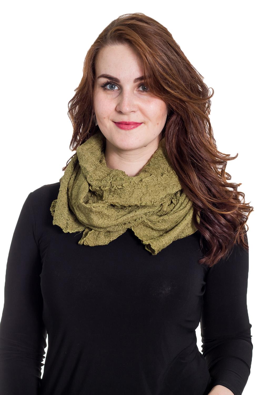 ШарфШарфы<br>Очаровательный женский шарф, который украсит Ваш образ  Цвет: зеленый  Размер: 60*125 см<br><br>По сезону: Осень,Весна<br>Размер : 60*125<br>Материал: Трикотаж<br>Количество в наличии: 1