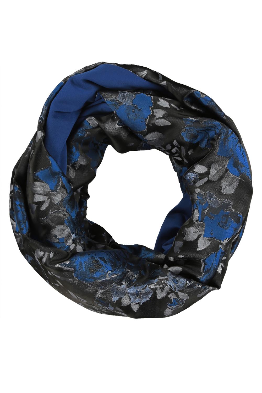 СнудСнуды<br>Чудесный женский снуд, который украсит любую даму  Цвет: черный, синий, серый.  Размеры: 158*48 см<br><br>Размер : UNI<br>Материал: Трикотаж<br>Количество в наличии: 1